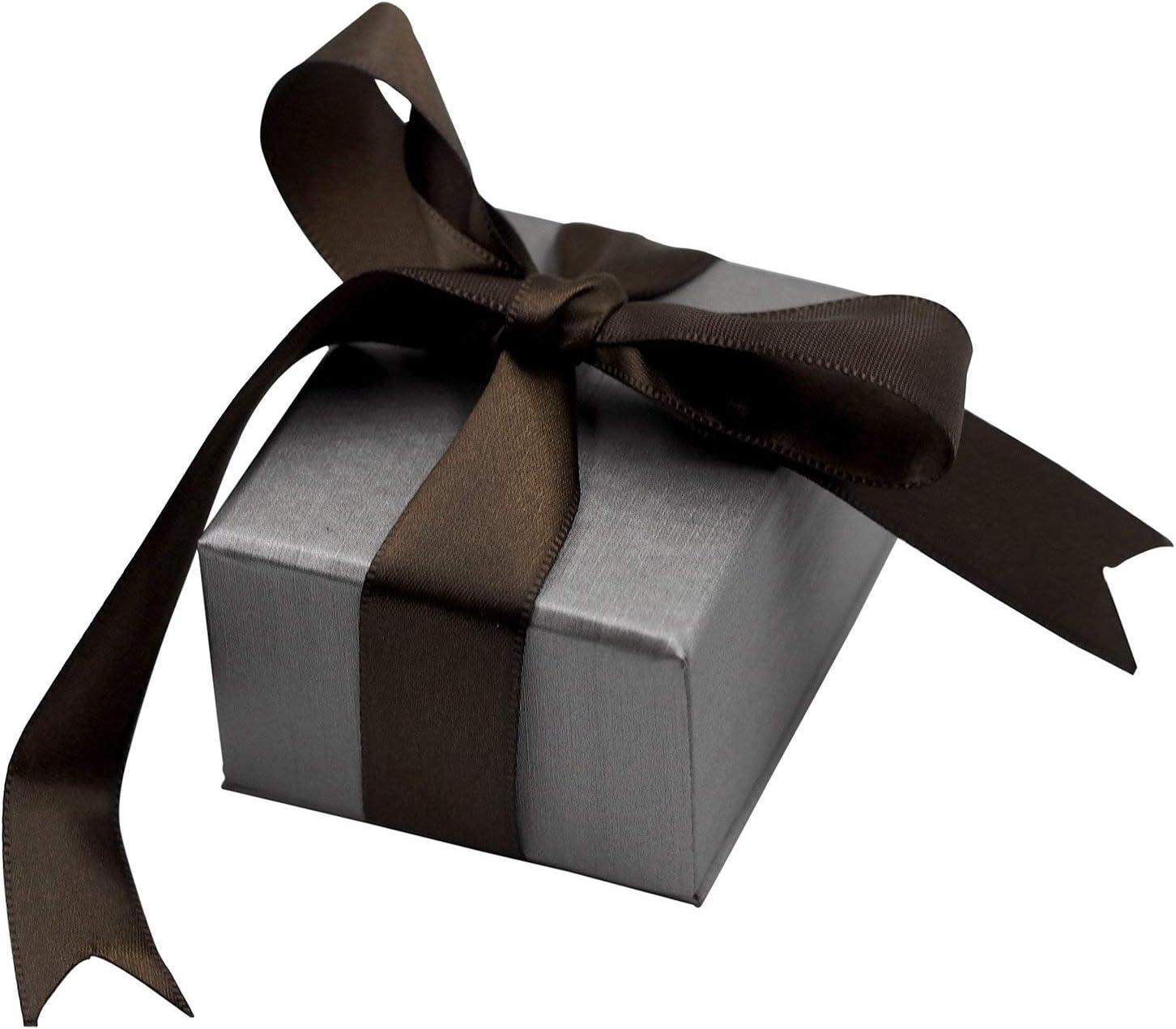 CuteBox Steel Grey Elegant Ribbon 2. 希少 Box 低価格 6-Pack Earring Jewelry