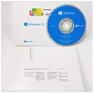 Windows 10 Home 64 Bit System Builder OEM | DVD Disc | English