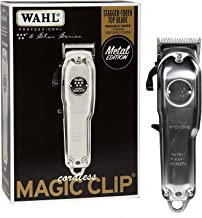 Wahl Professional 5 Star Series Metal Edition Cordless Magic Clip with Stagger Tooth Blade, Rotary Motor, Lithium Ion Battery, 90+ Minute Run Time for Professional Barbers and Stylists - Model 8509