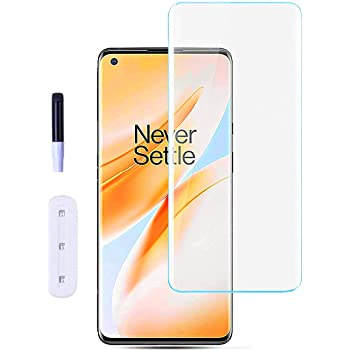 Doubledicestore Edge to Edge 6D Full Tempered Glass Compatible with oneplus 8 uv glass (pack of 1)