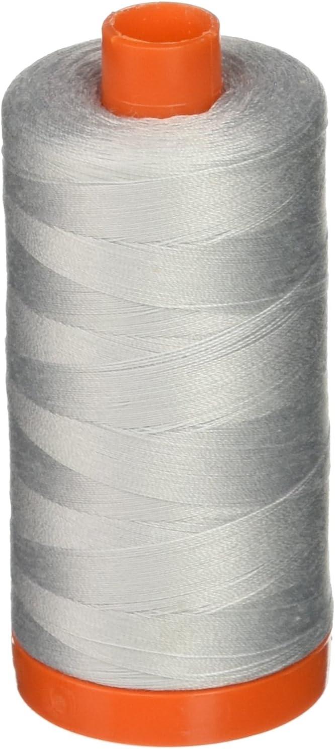 - Aurifil Mako 50 wt Cotton Thread Dove 2600 Bundle of 3-1422 yds each