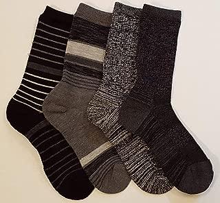 Ladies' Trail Socks Extra Fine Merino Wool (Black), 4 Pairs