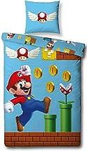 Character World Dwustronna pościel Super Mario, 135 x 200 cm, 80 x 80 cm, 100% bawełna, gry, 100% bawełna, linon