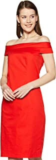 VERO MODA Women's Body Con Cotton midi Dress