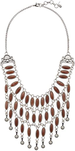 Pink Stone Collar Necklace
