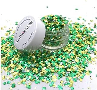 Biodegradable Glitter Chunky Glitter for Festivals. Eco Friendly Body Glitter for Hair Glitter and Nail Glitter (Irish Gold)
