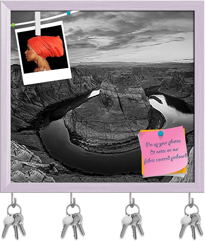 Artzfolio Horseshoe Bend in Page Arizona Key Holder Hooks   Notice Pin Board   White Frame 17.1 X 16Inch