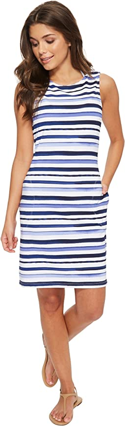 Watercolor Stripe Swim Dress Cover-Up