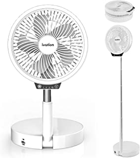 """Ivation Rechargeable Personal Fan with LED Light 