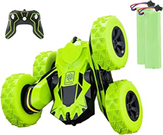Apsung RC Stunt Car,4WD Rechargeable 2.4Ghz Remote Control Car, Double Sided Rotating Tumbling 360°Flips Off-Road High-Spe...