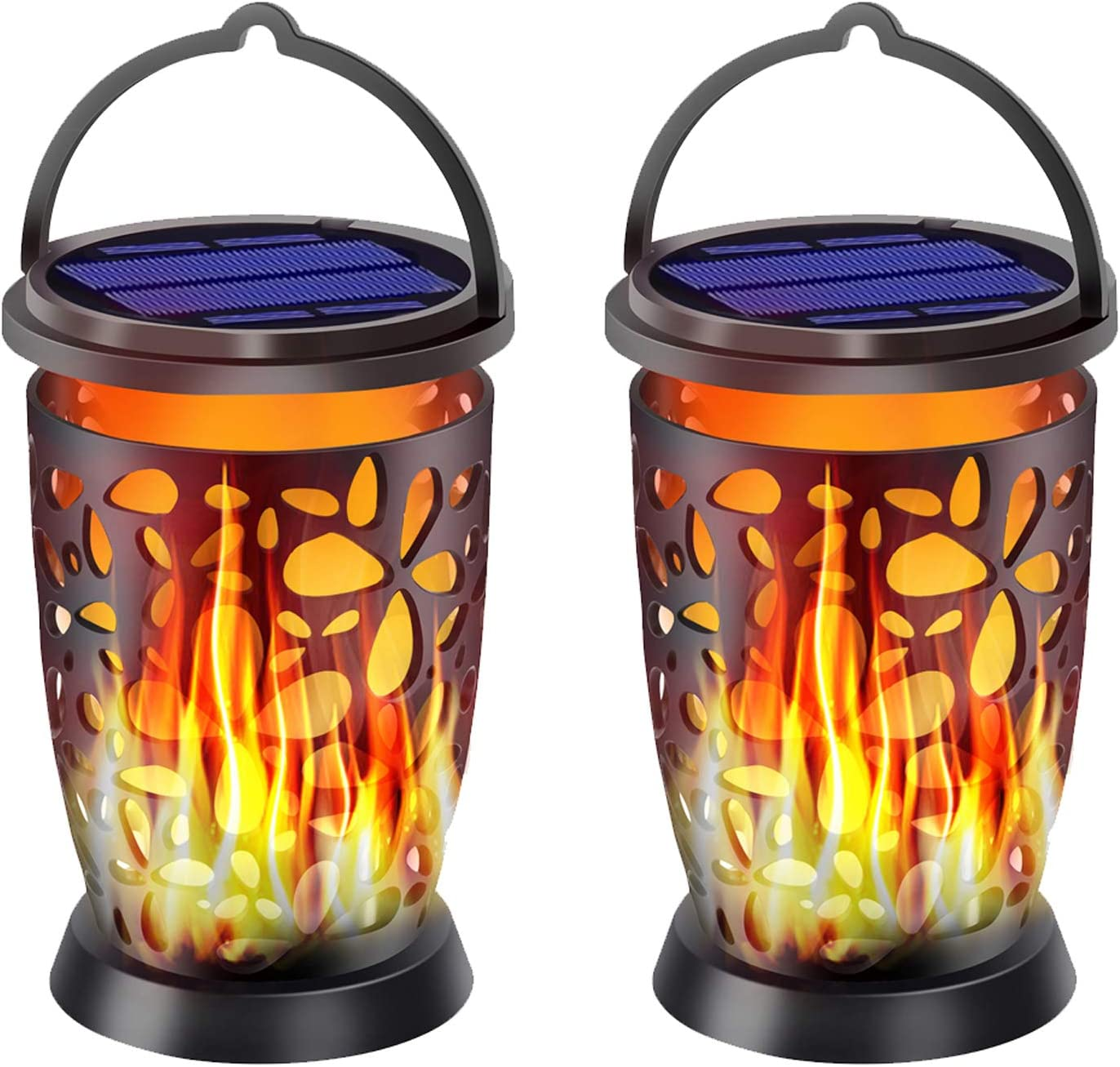 40% OFF Cheap Sale Ollivage Upgrade Colorado Springs Mall Hanging Solar Flame Outdoor Flickering Lanterns