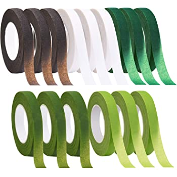 0.47 Inch x 30 Yard Each Roll Wedding Wreath and Other DIY Crafts MeiMeiDa Floral Tape 12 Rolls 6 Colors Flower Adhesives Stem Wrap for Florist Making Beautiful Bouquet Arrangement