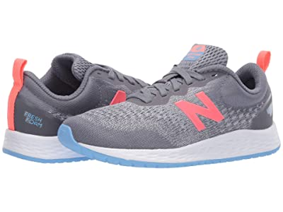 New Balance Kids Fresh Foam Arishi v3 (Little Kid/Big Kid) (Gunmetal/Tahitian Pink) Girls Shoes