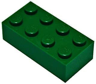 LEGO Parts and Pieces: Dark Green (Earth Green) 2x4 Brick x50