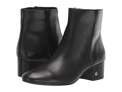 LAUREN Ralph Lauren Welford (Black Leather) Women