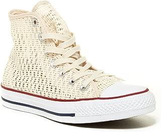 Converse All Star Chuck Taylor Parchment Crochet HI TOP 551538F Women SZ 8