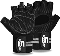 Gewichtheffen Handschoenen Gym Workout Fitness Pols Wrap Ondersteuning Mannen Vrouwen Vingerloze Handschoenen Volledige Vi...