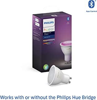 Philips Hue GU10 White and Colour Ambiance LED Smart Spot Light (GU10) (Compatible with Amazon Alexa, Apple HomeKit, and G...