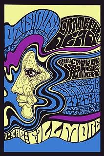 Rock and Roll Music Concert Fillmore Bands. Grateful Dead Vintage Poster Repro 24