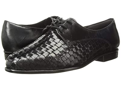 Trotters Lizzie (Black Woven/Smooth Leather) Women