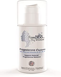 FemBasis Progesterone Creams Support Natural Hormone Balance. Skin Friendly, Safe, Effective, Superior Plant Based Herbal Carrier Formula. Wont Clog Pores, No Soy, Most Trusted For Womens Health