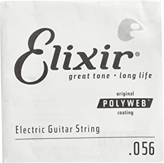 Elixir Strings Electric Guitar String POLYWEB Coating .056