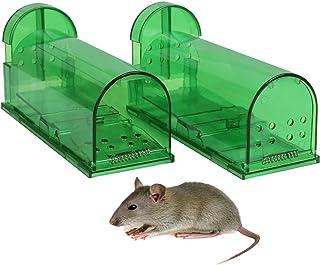 comprar comparacion Aookey Ratoneras Ningunos Ratones de la Captura de la Muerte Vivos, Reutilizable y Fácil de Usar la Trampa Snap de la Rata...