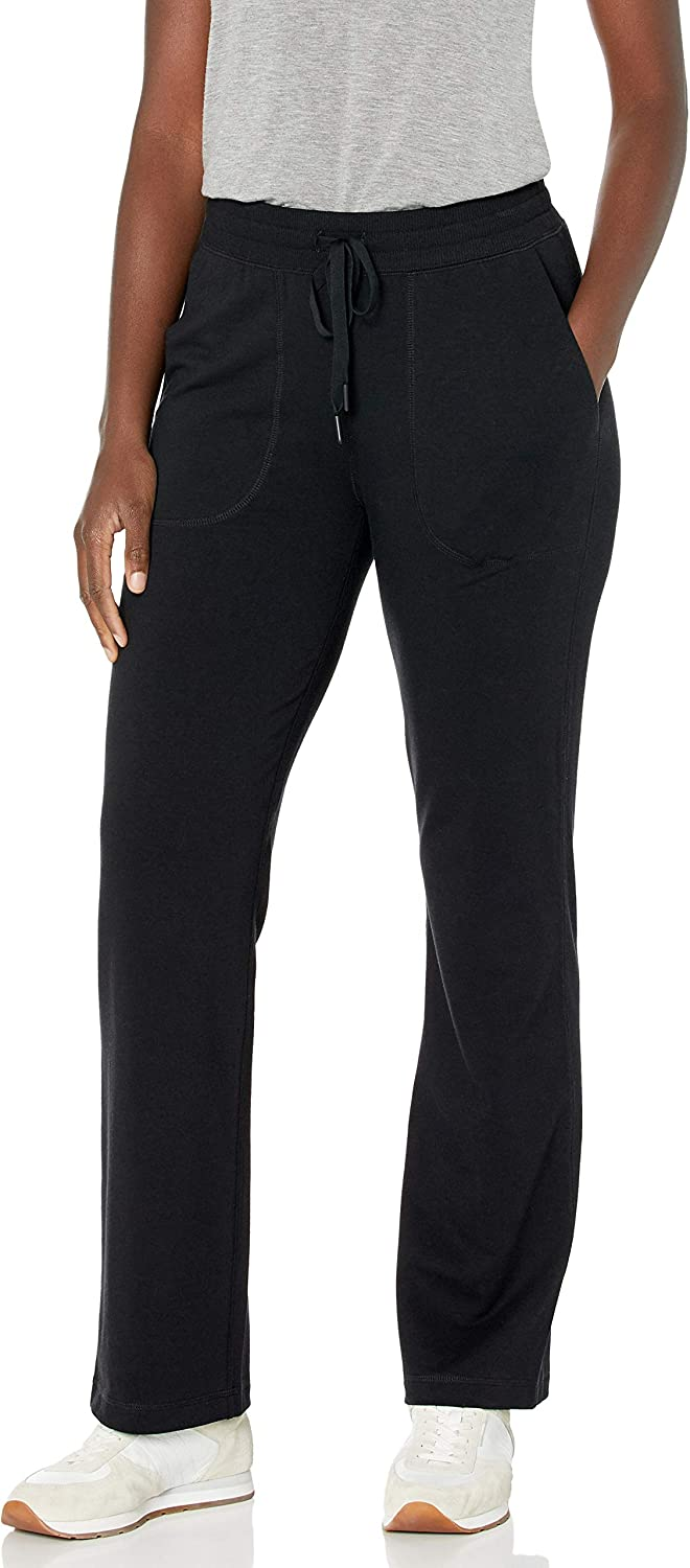 Amazon Essentials Women's Relaxed-Fit Studio Terry Full Length Classic Fit Straight Leg Pant