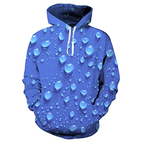 94ce00d412c3 UNIFACO Unisex Realistic 3D Print Galaxy Pullover Hoodie Funny Pattern  Hooded Sweatshirts Pockets for Teens Jumpers