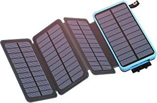 IXNINE Solar Charger 25000mAh Power Bank Portable Charger Battery Pack with 2.1A Dual Output for Smartphone,Tablet and More