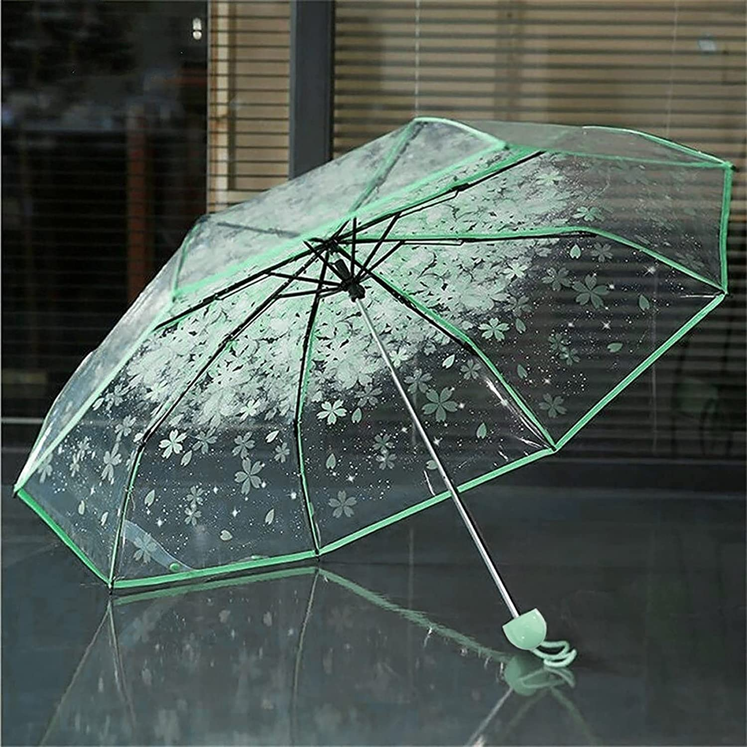 UIOP Women's Rain Umbrella Multicolor Large-scale sale Clear Transparent Cherry Selling and selling B