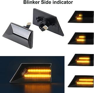 OZ-LAMPE Indicadores laterales dinámicos Luz de señal de giro Luz de marcador lateral que fluye Humo para Ope-l Vectra C 2002-2008 Signum 2003-2008
