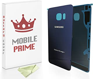MobilePrime Blue Replacement Back Glass Back Cover Compatible for Samsung Galaxy S6 Edge Plus