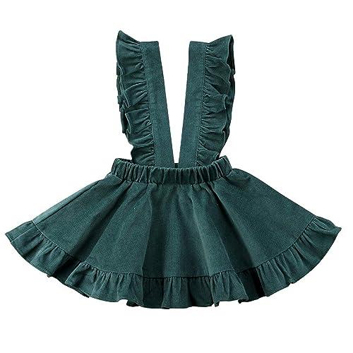 6fd396ef56 ModnToga Baby Girls Velvet Suspender Skirt Infant Toddler Ruffled Casual  Strap Sundress Summer Outfit Clothes