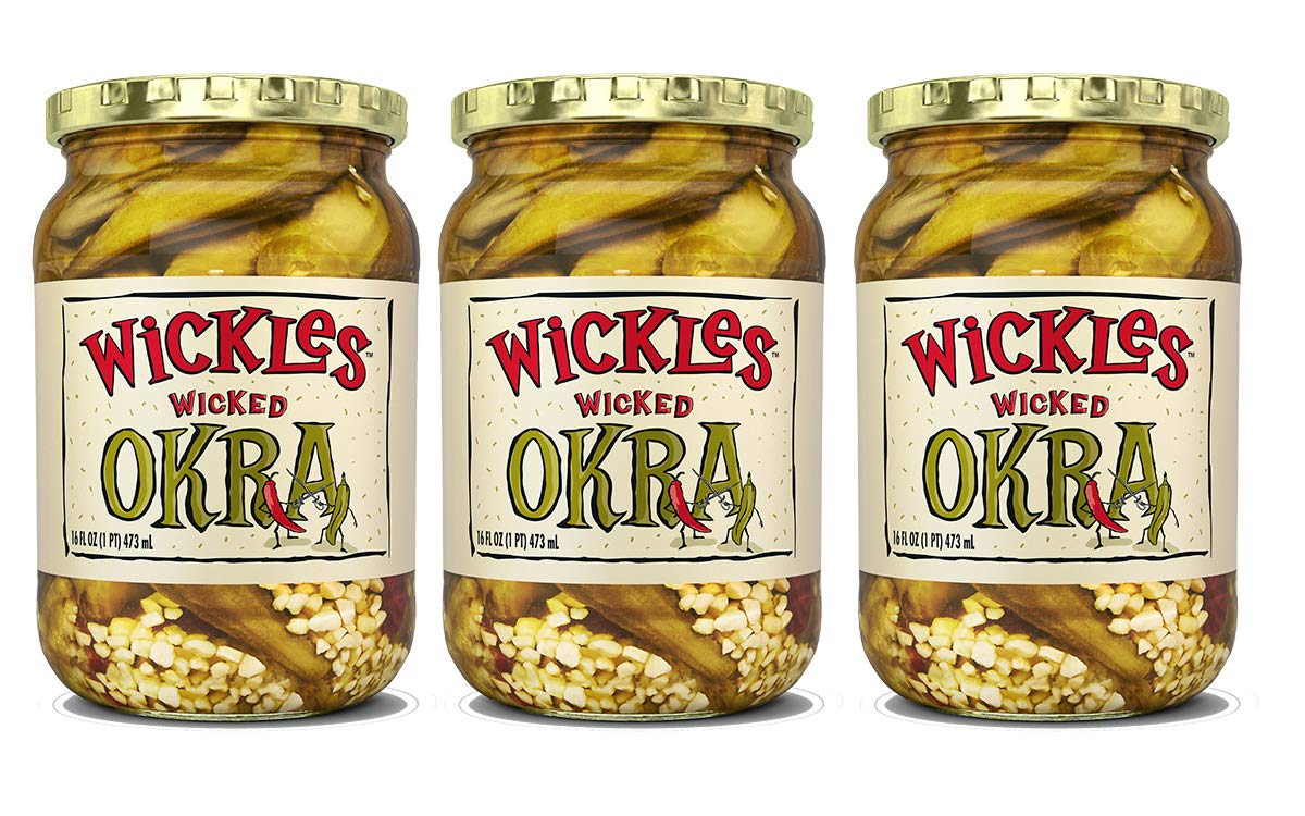 Wickles Wicked Okra 16 - OZ 3 Pack Direct stock discount Excellent