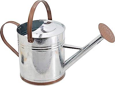 2.1-Gallon Blue Tierra Garden 36-5081B Traditional Metal Watering Can