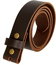 One Piece Full Grain Buffalo Leather Replacement Belt Strap 1-1/2