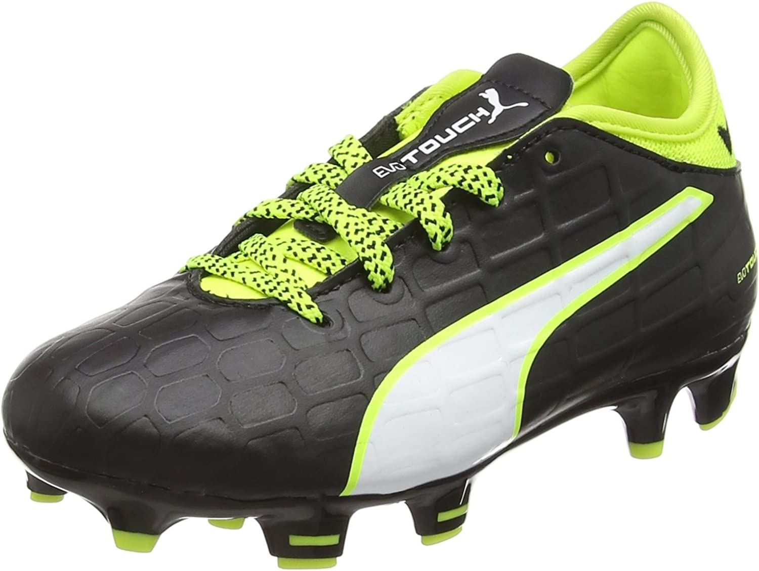 PUMA Evotouch 3 FG Football Soccer Boots shoes Black neon White