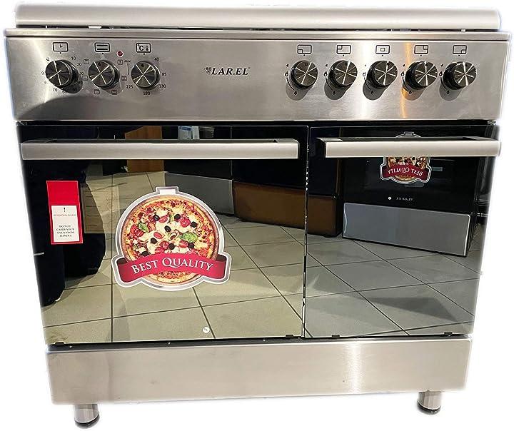 Cucina da 90x60 lar.el forno elettrico con vano porta bombola 5 fuochi acc. elettrica B08ZV5C99W
