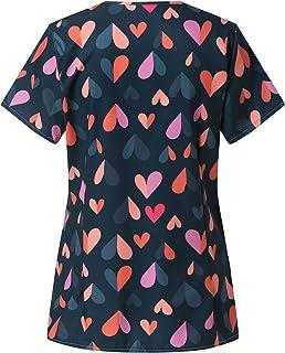 Camiseta para mujer para el día de San Valentín, con estampado de amor, informal, manga corta, cuello en V, para novia.