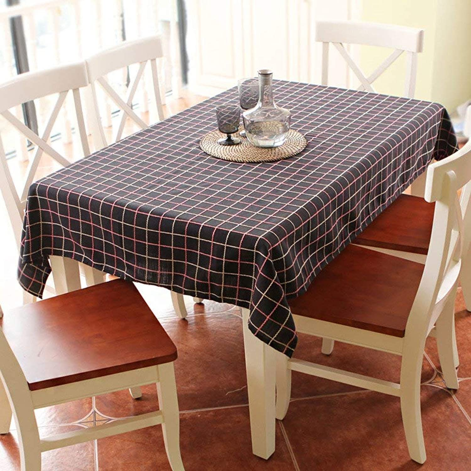 Water in Cotton Rural Fabric of The Small Table Cloth of Fresh Coffee Matte Nordic-A 135x135cm(53x53cm)