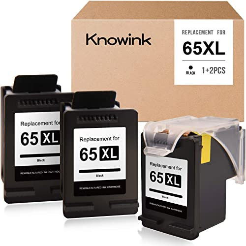 popular KNOWINK Remanufactured Ink Cartridge Replacement for HP 65XL 65 XL to use popular with DeskJet 3752 2622 2652 3755 outlet online sale 2655 3758 3720 2630 3722 2624 Envy 5055 5052 5010 5030 (Black, 3-Pack) sale