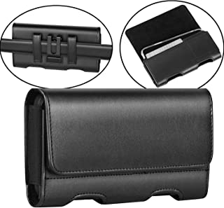 Mopaclle LG G6/ LG G6 Plus Holster Case, Premium Leather Case with Belt Clip Loops Cell Phone Pouch with ID Card Cover for LG G5 / LG G4 / LG K10 (2017) / LG K20 V/LG K20 Plus/LG V5/ LG Grace