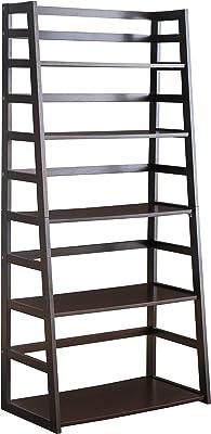 2L Lifestyle Hyder Wood Shelf Bookcase Tall Espresso, Big