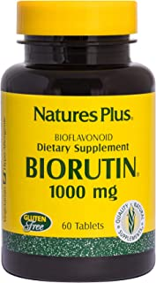 NaturesPlus Biorutin (Sophora Japonica) - 1000 mg, 60 Vegetarian Tablets - Vein Health Supplement, Joint Pain Relief, Anti...