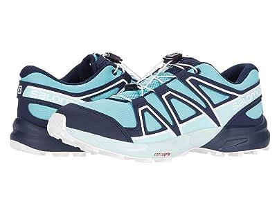 Salomon Kids Speedcross (Little Kid/Big Kid) (Meadowbrook/Navy Blazer/Icy Morn) Kids Shoes
