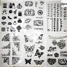 BETOY Stempelset, transparante siliconen stempels, duidelijke stempel snijden stencils voor Scrapbooking kaarten DIY, foto...
