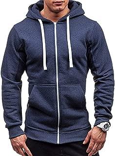 Robert Reyna Trendy Men's Hoodies Tracksuit Drawstring Pocket Hooded SweatLong Sleeve Zip Slim Coat Male Jacket