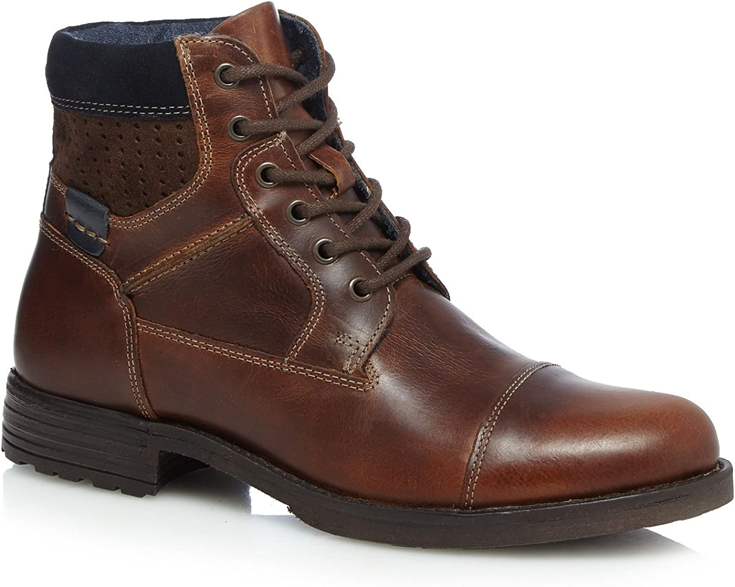 Red Herring Men Tan Leather Lace Up Boots