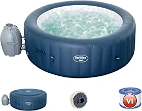 Bestway 54185E SaluSpa Milan Airjet Plus Portable Round Inflatable 6 Person Hot Tub Spa with Cover and Filter Pump Include...